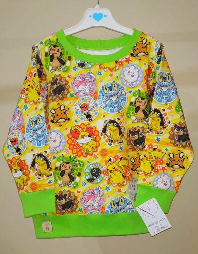 Bluzy Bluza dresowa Pokemony roz 110 116