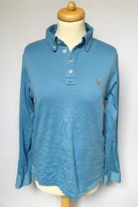 Koszulka Polo 14 16 lat 164 cm Ralph Lauren Niebieska Bluzka...