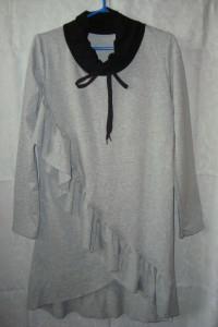Nowa szara sukienka falbanka roz M...