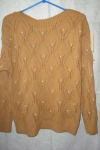 Nowy z metką sweter perełki roz M...