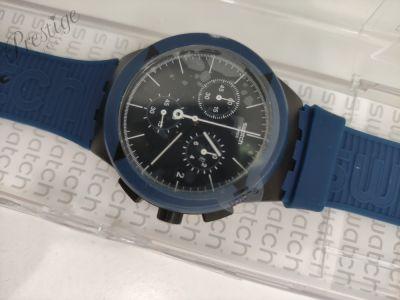 Dodatki Zegarek męski Swatch Chrono PLASTIC X DISTRICT blue SUSB418