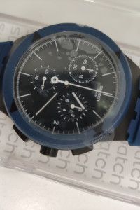 Zegarek męski Swatch Chrono PLASTIC X DISTRICT blue SUSB418