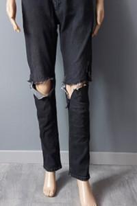 Spodnie Jeans Czarne Dziury Next 40 L...