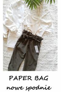 Paper bag nowe spodnie vintage z wysokim stanem XS S...
