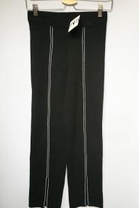 Legginsy Czarne NOWE Zara Spodnie S 36 Lampasy Proste Nogawki...