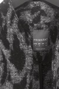 Płaszcz przejściowy pudełkowy 36 S Primark panterka...