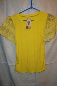 Żółta bluzka koronka roz S M