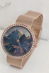 Zegarek damski US POLO ASSN Cyrkonie Kryształy USP4571bk