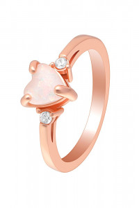 Nowy pierścionek złoty kolor różowe złoto serce...