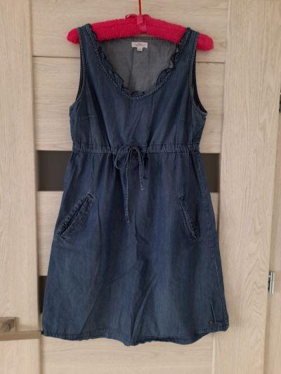 Suknie i sukienki Sukienka jeansowa Cropp