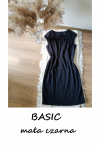 Klasyczna czarna sukienka XL XXL basic minimalizm mała czarna e...