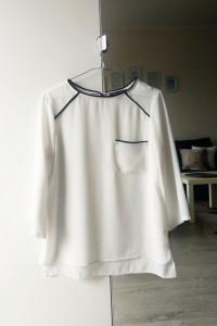 Biała elegancka bluzka mgiełka Primark S...