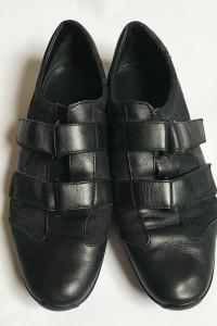 Buty Sportowe Gucci Czarne 38 Logowane Skóra Naturalna Rzepy...