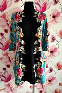 atmosphere sukienka wyszczuplający wzór kwiaty hit 40...