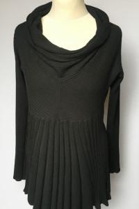 Sukienka Czarna Free Quent L 40 Golf Dzianinowa...