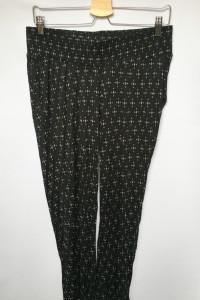 Spodnie H&M Mama Proste Nogawki Wzory M 38 Czarne Dresowe...