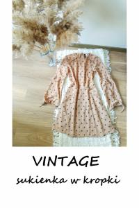 Sukienka w kropki XS S M vintage pin up...