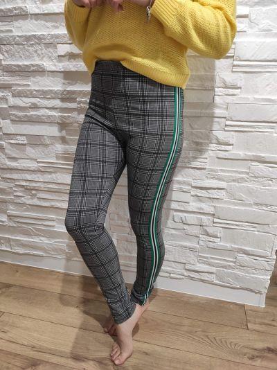 Spodnie Spodnie legginsy czarno białe lampasy S H&M