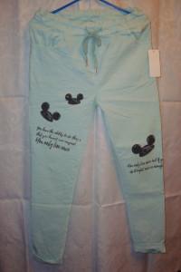 Miętowe spodnie rurki roz uniwersalny...