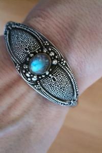 Stara srebrna bransoletka z Bali rękodzieło srebro 925