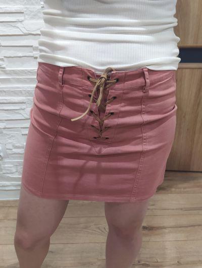 Spódnice Spódnica krótka wiązana zamek zip XS