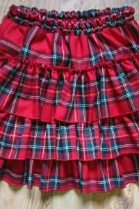 Nowa czerwona spodniczka krata...