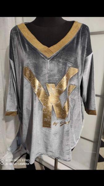 Tuniki Hit Welurowa bluzka
