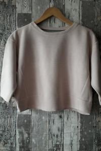 Krótka pudrowa bluza