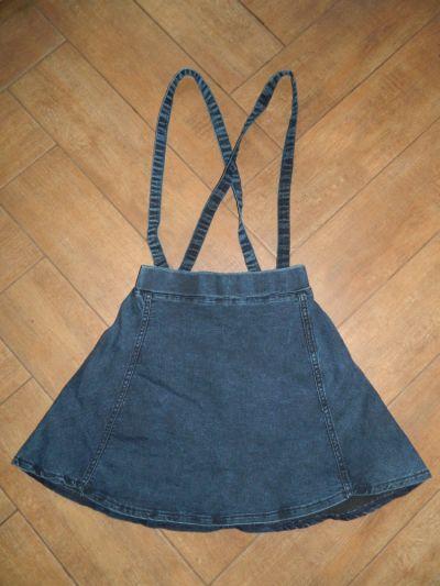 Spódnice jeansowa spódnica szelki roz 34 36