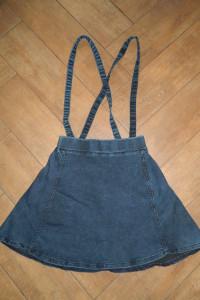 jeansowa spódnica szelki roz 34 36...