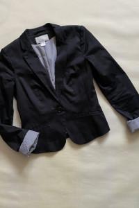 H&M czarna marynarka 34