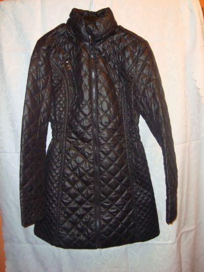 Odzież wierzchnia Czarny płaszcz pikowany roz XS