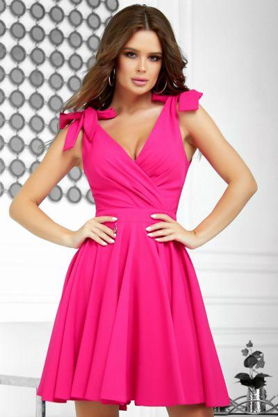 Suknie i sukienki Fuksja sukienka kolory rozkloszowana 34 36 38 40 2209