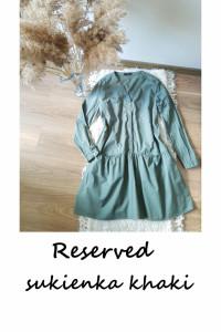 Sukienka khaki L XL Reserved bawełna...