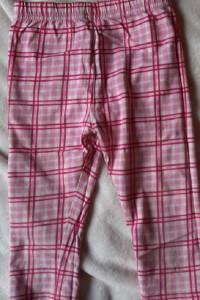 Legginsy dziewczęce różowe krata r 1 2 lata
