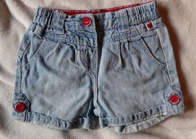 Spodnie i spodenki Spodenki krótkie szorty jeans dziewczęce 12 miesięcy