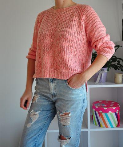 Swetry Brzoskwiniowy sweterek New Look