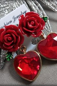 Nowe kolczyki serca Vintage...