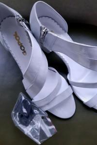 Srebrno białe buty Gopol