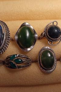 Stare pierścionki ze srebra PRL SREBRO M6...