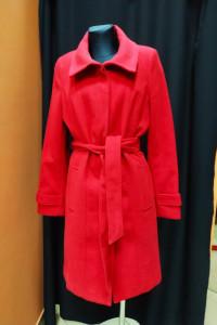 Czarny płaszcz szlafrokowy pasek F&F 42 14 XL...