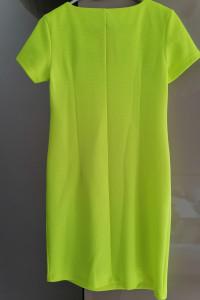 Sukienka LETNIA dzianinowa neon limonka 36...