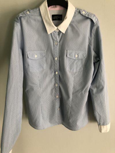 Koszule Błękitna koszula w prążki