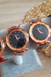 Nowy zegarek brokatowa tarcza cyrkonie