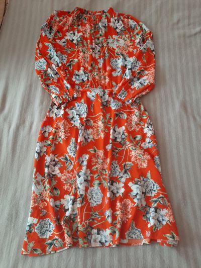 Suknie i sukienki Śliczna sukienka w kwiaty midi