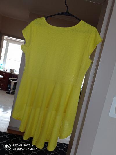 Bluzki Żółta bluzka baskinka