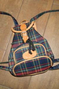Black Horse mały plecak plecaczek krata...