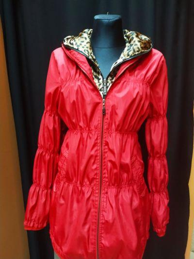 Odzież wierzchnia Czerwona wiatrówka kurtka kaptur 4XL 185