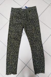 Spodnie jeansy zieleń zielone panterka Zara Women 42 XL