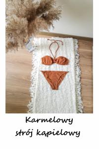 Bikini strój kąpielowy S M ciemny karmel brąz lato plaża...